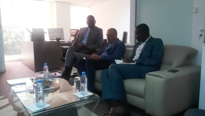 Mr SanJay MEHTA and Mr. Sheikh Dramé received by Professor Abdourahmane Diouf