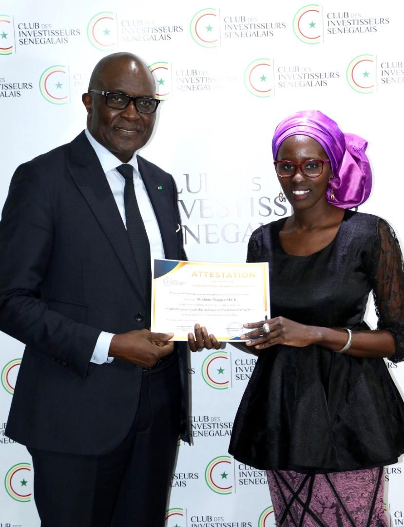 Formation des champions juniors du Club des Investisseurs du Sénégal 12-13 Décembre 2019